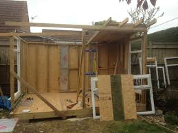 diy garden office. Build Your Own Garden Office Back Walls Finished Diy O