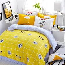 unusual lemon yellow black white and silver gray window pane plaid and medallion print durable 100 cotton twin full size bedding sets