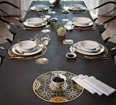 Designers Collection Placemats Plates And Cups Italic Lace Brass Placemat Maurizio Galante