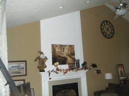 vaulted ceiling and blank walls