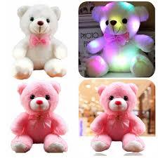 Glow In The Dark Teddy Bear Night Light Girls Baby Cute Soft Stuffed Plush Teddy Bear Toy With Led Light Up For Kids Xmas Gift