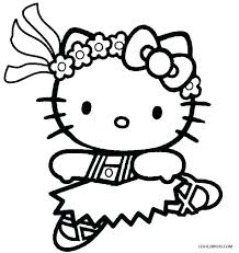 Hello Kitty Coloring Pages Sheet Page Ballerina Ballet Colouring