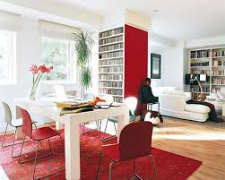 red and white furniture. View In Gallery Red Furniture With White Walls And F