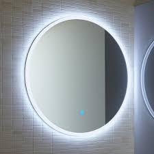 Atmos edge round illuminated mirror