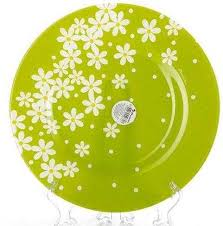 <b>Тарелка Pasabahce Green Garden</b> обеденная стекло диаметр ...