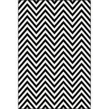 picture of chevron black white rug