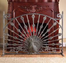 beveled glass fireplace screen white fireplace doors peacock fireplace screen
