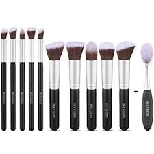 makeup brushes sets 11pcs synthetic kabuki makeup foundation eyeliner blush contour brushes for powder cream