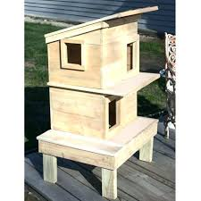 wooden cat house outdoor cat houses wooden cat shelters and houses for outside use raised outdoor