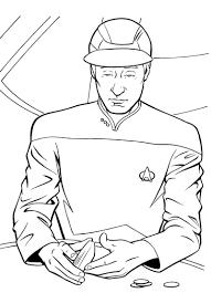 Data Star Trek Coloring Page Color Me Pop Culture Pinterest