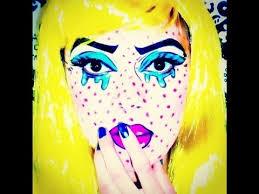 pop art makeup tutorial roy lichtenstein inspired
