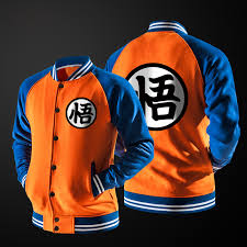 New <b>Japanese Anime Dragon Ball</b> Goku Varsity Jacket Autumn ...
