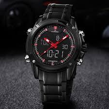 NAVIFORCE 9050 Dual Time Analog <b>Digital</b> Top <b>Luxury Brand</b> ...