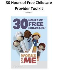 Free Childcare Advertising 30 Hours Toolkit The Education People