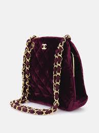 chanel vintage bag. chanel vintage purple suede buckle shoulder bag chanel