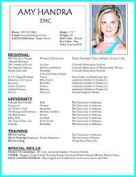 Example Actor Resume Top Rated Actors Resume Sample Acting Resume ...