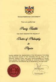 Phd Certificate Parviz Tarikhi S Parviztarikhis Blog