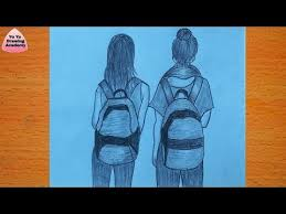to draw best friend with pencil sketch