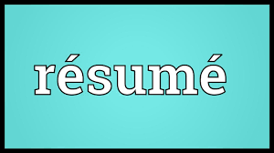 Resumed meaning in english