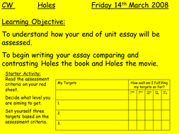 holes by louis sachar lesson plan and activities by teach first   presentation1 3 ppt