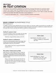 Mla Citation Format Template Tinymcsmall Template