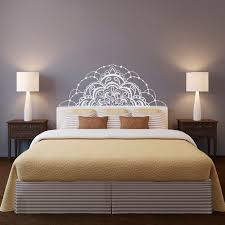 Small Picture Half Mandala Wall Decal Headboard Wall Decal Half Mandala