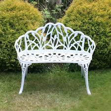 seater garden bench seat white