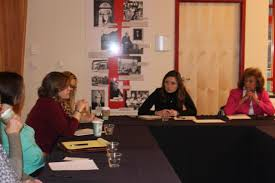 carlinville state representative avery bourne r raymond hosted a roundtable discussion on thursday night at blackburn college for women in government in