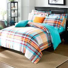 blue and orange bedding sets blue orange stripes grid pattern duvet cover sanding cotton bedding set trimmed bed sheet 2 sham covers grey comforter sets