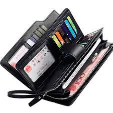 <b>men</b> leather <b>business long wallet</b> credit card organizer at Banggood
