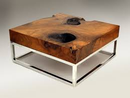 Rustic Wooden Coffee Tables Furniture Square Glass Top Rustic Wood Coffee Table Made From