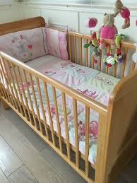 gorgeous john lewis cot junior bed includes two pink bedding sets extras