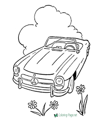 Classic and sport cars, cars from cartoon cars, everything is here. Cars Coloring Pages