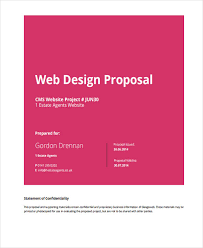 Website Design Proposal Template Fascinating 28 Website Design Proposal Templates Free Samples Examples Format