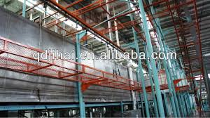 qingdao electrostatic spray painting equipment automatic powder spraying coating line for mass ion automatic powder spraying coating line for