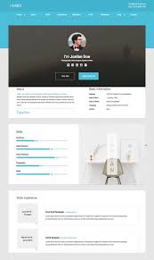 simple resume website 18 best html resume templates for awesome personal websites 2018