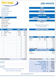 Employee Invoice Template Free Job Invoice Template 8 Timesheet Invoice Templates Free Sample