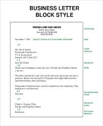 Personal Business Letter Block Style Personal Business Letter Sample 6 Examples In Word Pdf