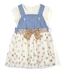 Nannette Baby Clothing Size Chart Nannette Baby White Bodysuit Denim Heart A Line Dress