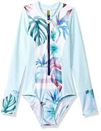 Malibu Dream Girl Swimwear Size Chart Amazon Com Next Girls Big Zip Front Long Sleeve Malibu One