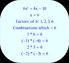 trinomial factors of 6 the leading coefficient for 6x² 4x 10