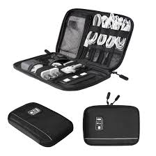 Amazon.com: BAGSMART Travel Universal Cable Organizer Electronics  Accessories Cases For Various USB, Phone, Charger and Cable, Black: Cell  Phones & ...