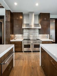 Wood Stove Backsplash Stunning 48 Stainless Steel Kitchen Backsplashes HGTV