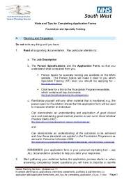 Tips For Completing Application Forms Hints And Tips For Completing Application Forms South West