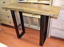 metal hall table. Recycled Rustic Timber Entrance Hall Table Console Narrow And Tall Metal Legs