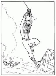 Spiderman Coloring Page Superhero Coloring Page Picgifscom