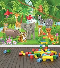 jungle wallpaper for kids. Delighful For Jungle Animals Wall Mural Photo Wallpaper Safari Kids Bedroom Nursery X  Large 1900mm X 1488mm Inside For A
