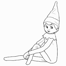 Elf On The Shelf Coloring Pages Inspirational Elf A Shelf Coloring