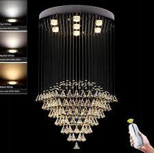 details about led modern k9 clear crystal ceiling light pendant lamp chandelier lighting 2262