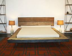 ... awesome shabby chic Malm Bedroom Set with rusty wooden bed with  headboard on red rug, ...